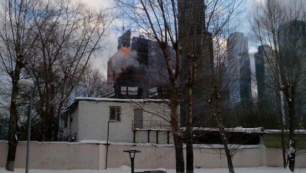 Возгорание произошло в одном из зданий Москва-Сити