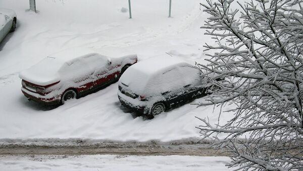 Последствия снегопада в Костроме