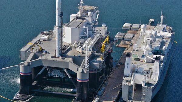 Платформа для запуска ракет в рамках программы Морской старт в Тихом океане