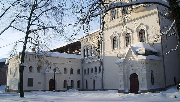 Дирекция НГОМЗ в здании Новгородского музея древностей постройки 1892 года