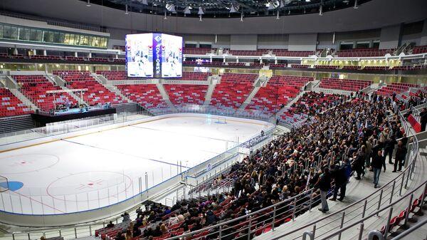 Первый хоккейный матч в ледовом дворце Большой в Сочи