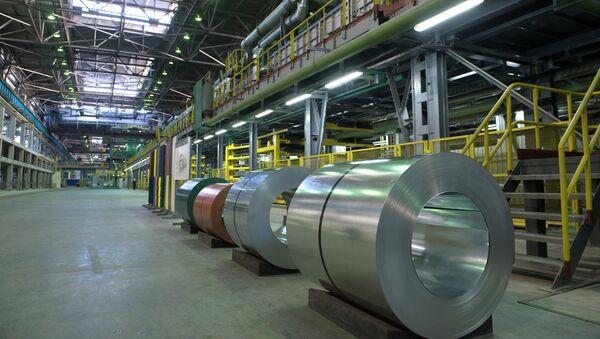 На территории предприятия ОАО Новолипецкий металлургический комбинат. Архивное фото