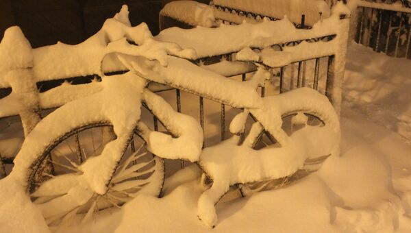 Снежный шторм Немо парализовал движение на улицах Бостона
