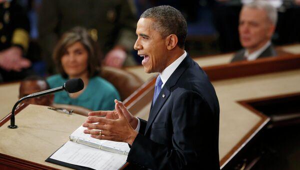 Президент США Барак Обама выступает перед конгрессом. Архивное фото.