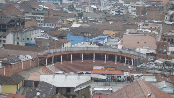 Вид на столицу Эквадора Кито. Архивное фото