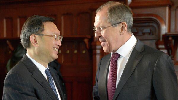 Встреча глав МИД РФ и Китая Сергея Лаврова и Яна Цзечи в Москве