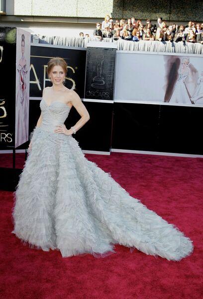 Эми Адамс в платье от Оскара де ла Рента на 85-й церемонии вручения премии Оскар
