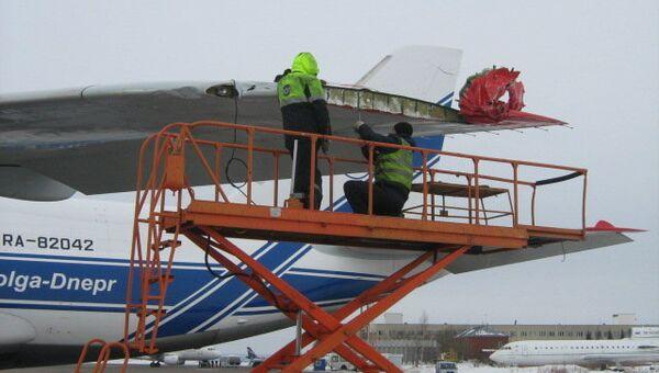Столкновение двух самолетов в аэропорту Казани