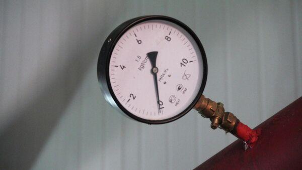 Датчик давления в шахте.Архивное фото