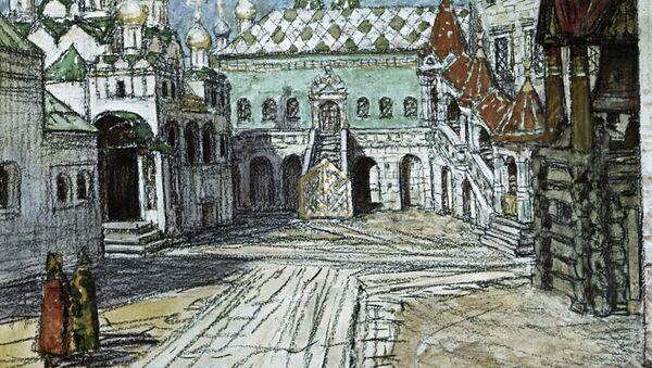 Картина Царская площадка в Кремле