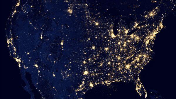 Вид США из космоса
