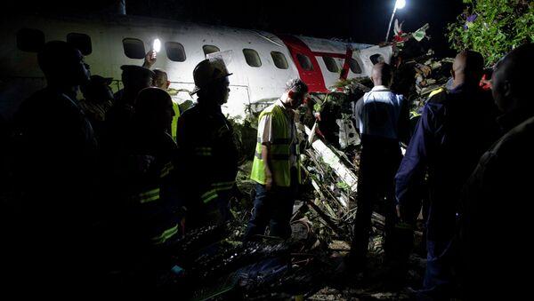 На месте крушения самолета в ДРК