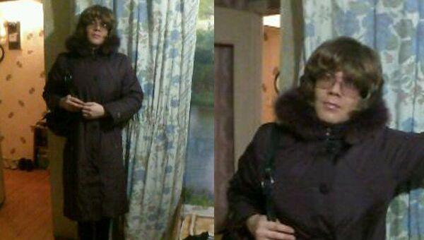 Предполагаемый убийца Ани Шкапцовой в женской одежде