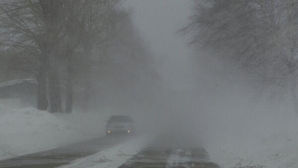 Сильный снегопад в Томской области