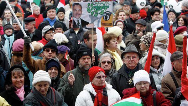 Протесты против поправок к конституции в Венгрии