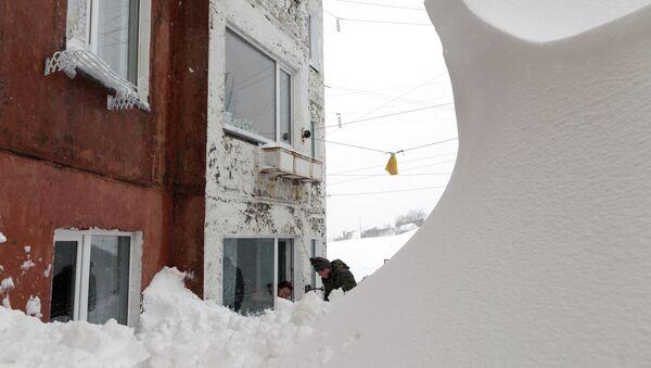 Последствия циклона в Петропавловске-Камчатском. Архивное фото