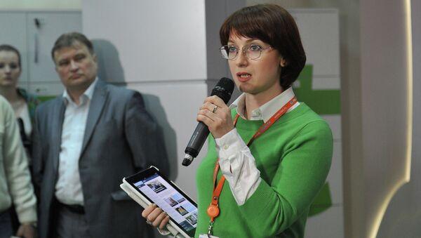 Директор интернет и мультимедиа проектов РИА Новости Ирина Кедровская. Архив