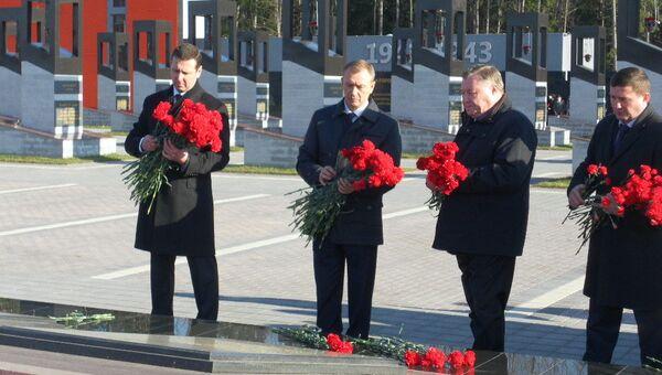 Открытие мемориального комплекса Хацунь в октябре 2011 года