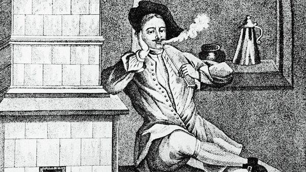 Петр Великий в Голландии отдыхает после работы у кораблей