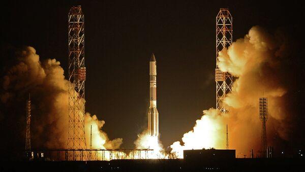 Пуск ракеты-носителя Протон-М с разгонным блоком Бриз-М. Архивное фото