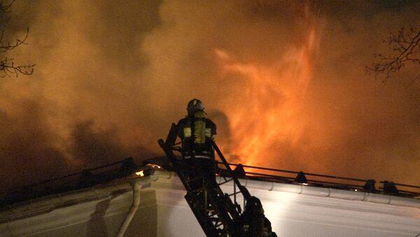 Пожар в здании ГИТИС. Кадры с места ЧП
