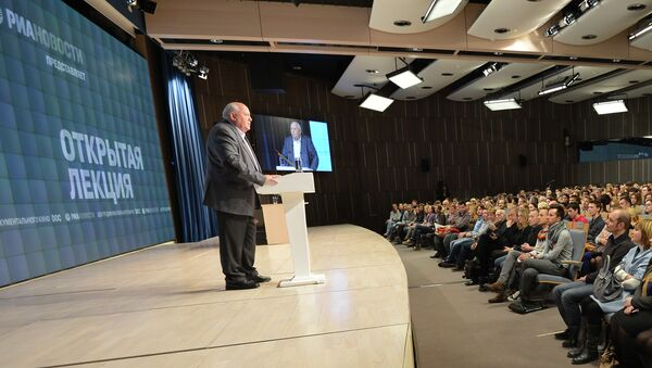 Открытая лекция Михаила Горбачева стала первой за многие годы лекцией, с которой он выступил в России.