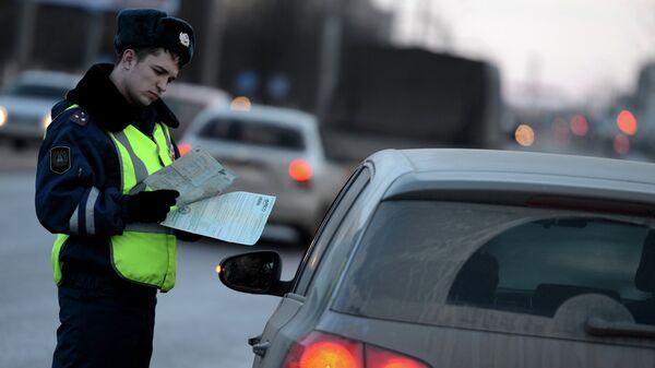 Рейд ГИБДД по выявлению нетрезвых водителей. Архивное фото
