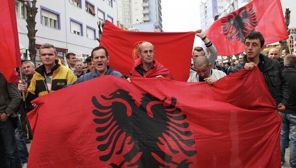 Акция протеста косовских радикалов