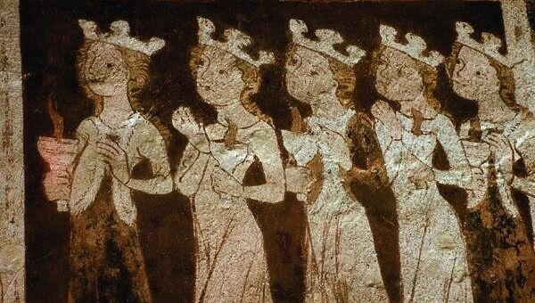 Экспонат выставки Фрески Восточной Пруссии в музее Фридландские ворота в Калининграде