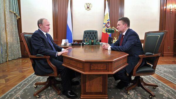 Встреча В. Путина и А. Миллера