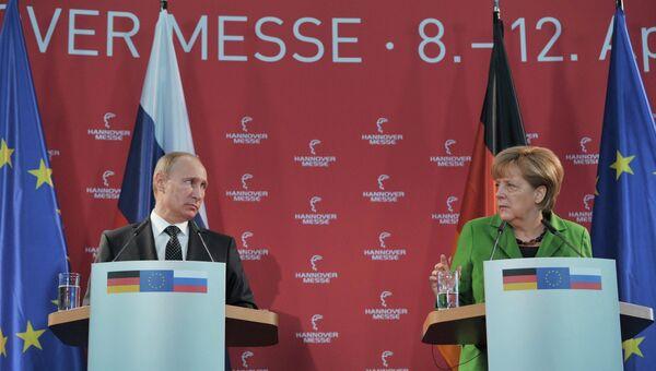 Рабочий визит В.Путина в Германию. День второй