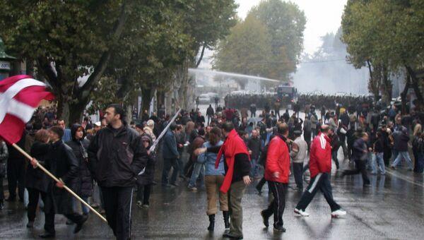 Акция протеста сторонников объединенной грузинской оппозиции в Тбилиси