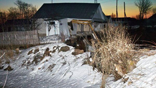 Провал грунта в Нижегородской области