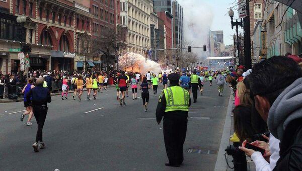 Взрыв на линии финиша Бостонского марафона