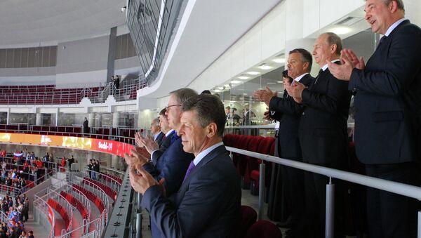 В.Путин посетил открытие юниорского ЧМ по хоккею в Сочи