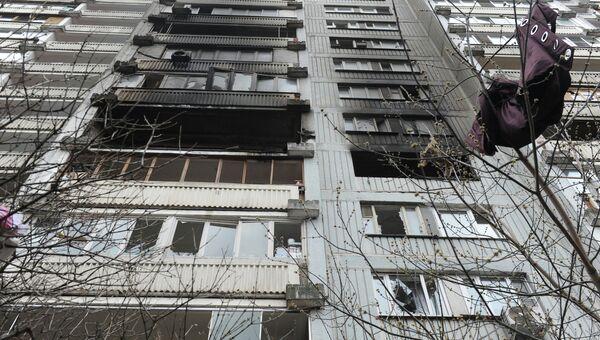 Последствия пожара на северо-востоке Москвы