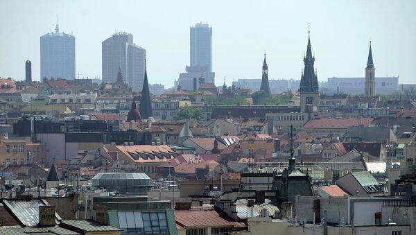 Вид на центр Праги. Архивное фото