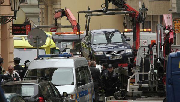 Взрыв прогремел в одном из домов в центре Праги