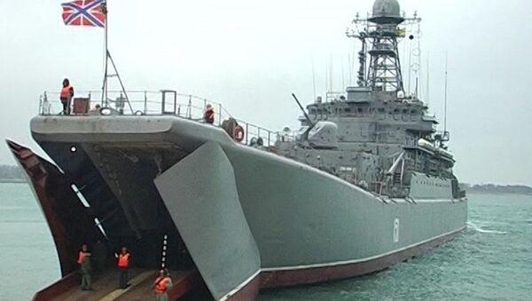 Крупномасштабные военные учения Черноморского флота РФ. Архивное фото
