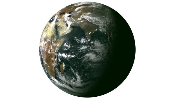 Снимок Земли, сделанный с борта метеоспутника Электро-Л, архивное фото