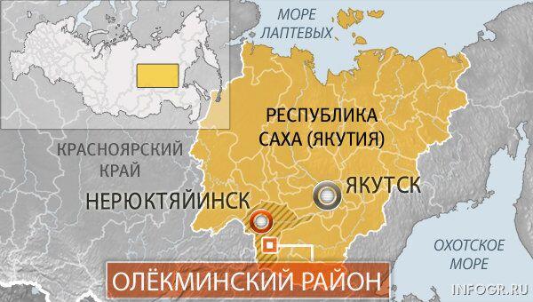 Поселок Нерюктяинск в якутии