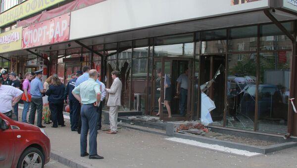 На месте инцидента у спорт-бара на Щербаковской улице в Москве