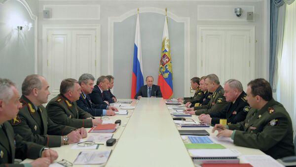 В.Путин провел совещание с представителями Генштаба