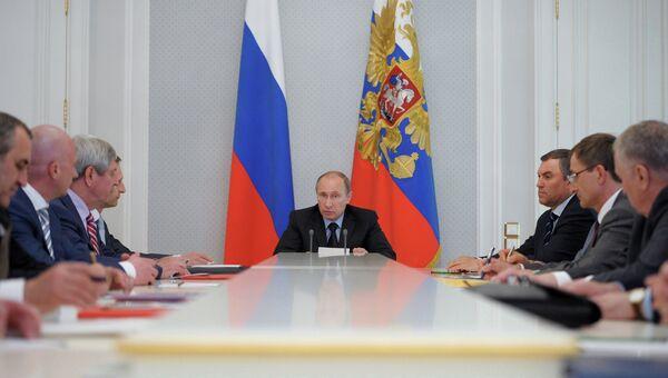 Встреча В.Путина с руководством фракций Госдумы РФ