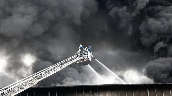 Пожар в Ереване