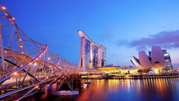Мост Хеликс Бридж в Сингапуре