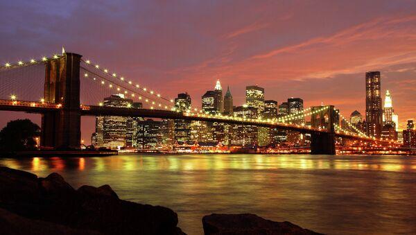 Бруклинский мост в Нью-Йорке, США
