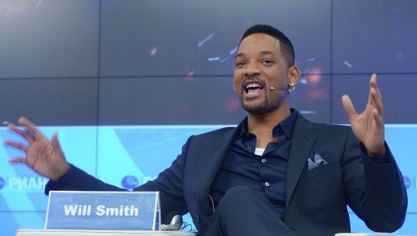 Американский актер Уилл Смит во время интервью в президентском зале агентства РИА Новости