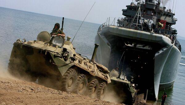 Учения морской пехоты ТОФ в Приморье, архивное фото