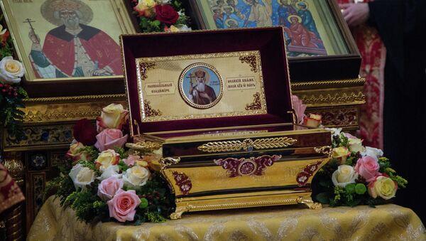 Мощи святого князя Владимира, архивное фото